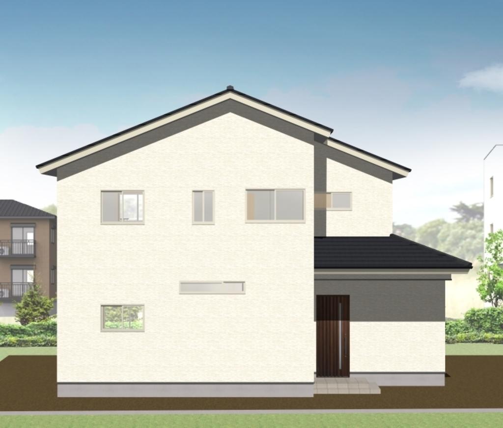 岡山市北区 「家族が集う開放的なリビングとオープン階段がある家」